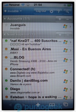 JiveTalk, interesante cliente de mensajería vía web para el iPhone