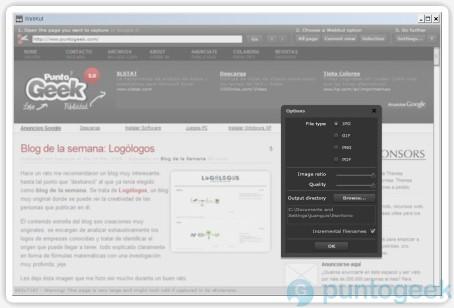 WebKut, aplicación para tomar capturas de pantalla sobre Adobe AIR