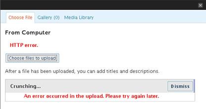 """Solucionar el error """"HTTP error"""" en WordPress 2.5"""