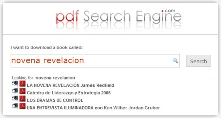 PDF Search Engine, buscador de libros en PDF