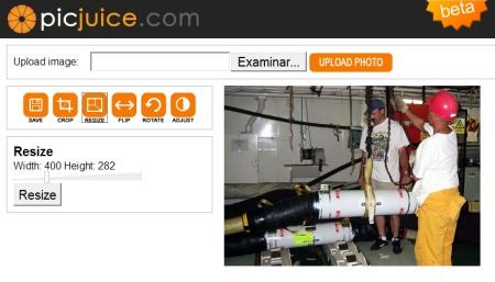 Picjuice, sencilla herramienta para editar imágenes online