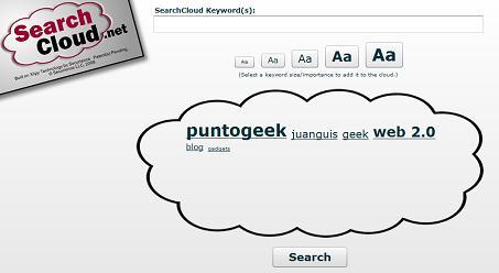 SearchCloud, buscador que permite dar relevancia a las palabras clave