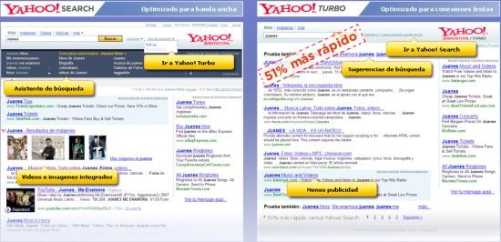 Yahoo! Turbo, buscador optimizado para conexiones lentas