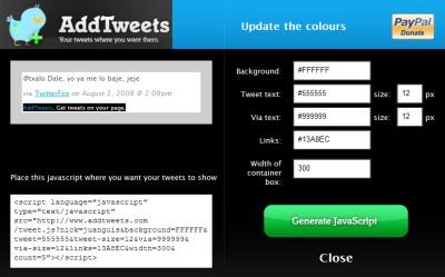Embebe tus tweets en cualquier sitio web con AddTweets