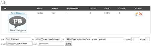 Servidor de publicidad por impresiones para WordPress