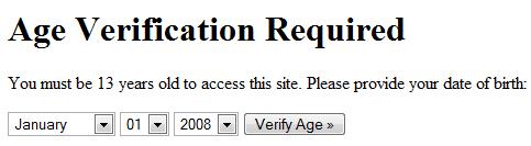 Plugin de acceso por confirmación de edad para WordPress