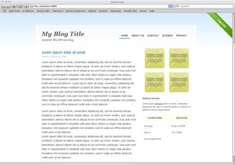 Theme BlueHabit para WordPress