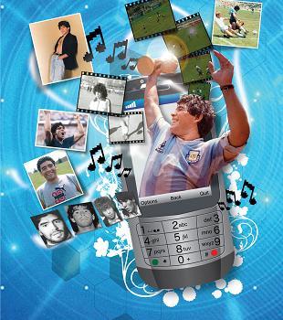 Contenidos de Maradona en tu celular