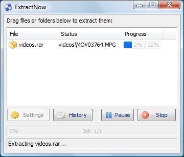 ExtractNow, excelente descompresor de archivos gratuito
