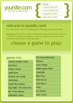 Script gratuito para crear un sitio de juegos en flash