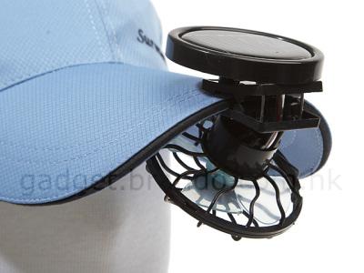 Mini ventilador solar para tu gorra