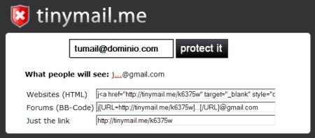 Tinymail, nueva forma de evitar el spam a la hora de compartir tu email