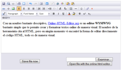 Simple editor WYSIWYG online