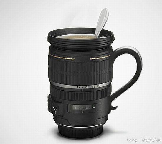 Taza de café para fotógrafos