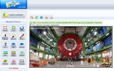 DrPic, editor básico de imágenes en AJAX