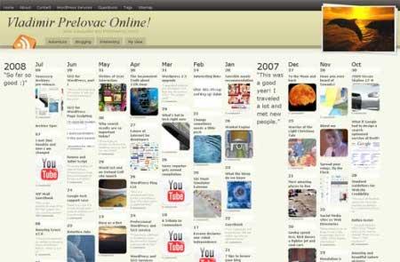 Muestra el archivo de tu blog de una manera original
