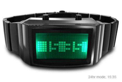 Tokyoflash: un reloj en negativo