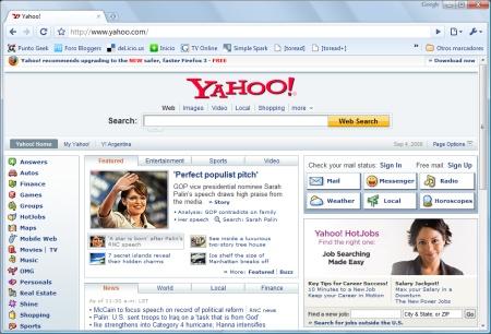 Yahoo! toma la posta de Google en la promoción de Firefox