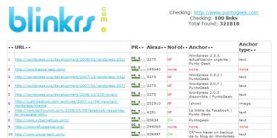 Genera un informe con los backlinks hacia tu dominio gracias a Blinckrs