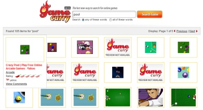 GameCurry, buscador de juegos en flash
