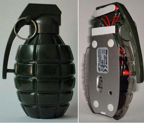 Una granada en la compu