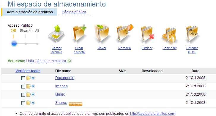 Orbitfiles te da 6GB de almacenamiento online, gratis