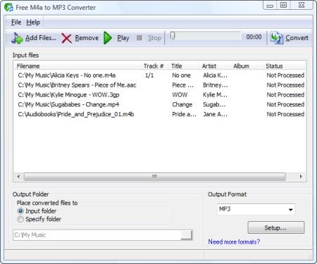 Convertir de M4a a MP3