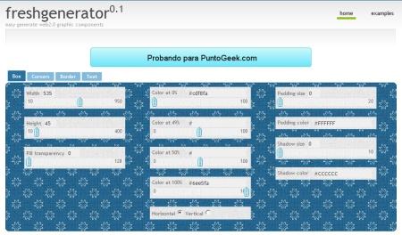 Crea elementos gráficos con estilo 2.0 gracias a Fresh Generator