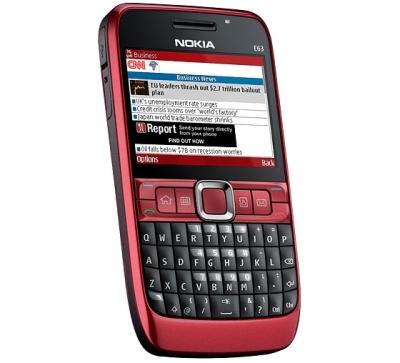 El nuevo Nokia E63