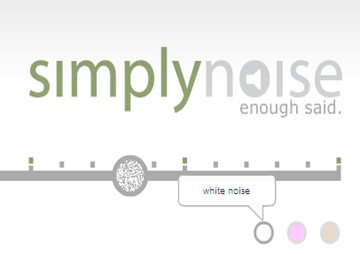 SimplyNoise: sonido blanco al rescate