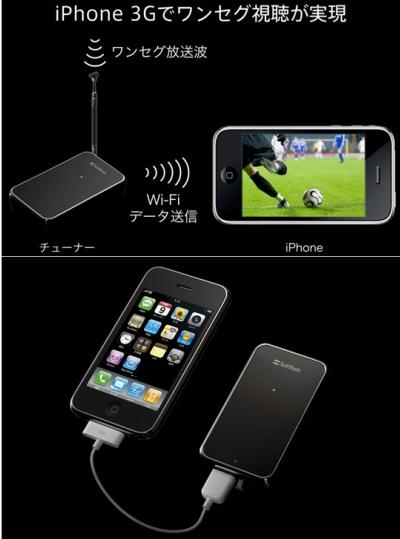 Sintonizador de TV móvil para el iPhone