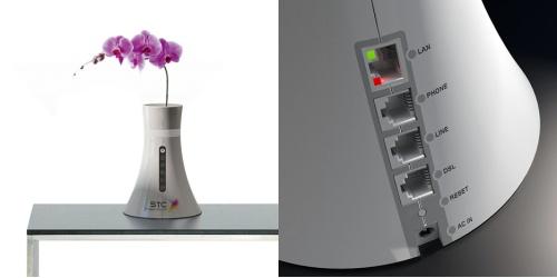 Router con diseño de florero, esto es estilo!