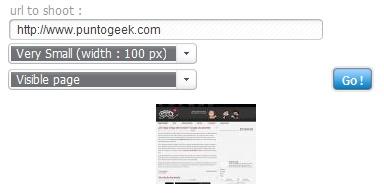 Toma una captura de pantalla de un sitio web con Thumbizy