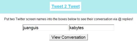 Sigue las respuestas de Twitter entre dos usuarios con Tweet 2 Tweet