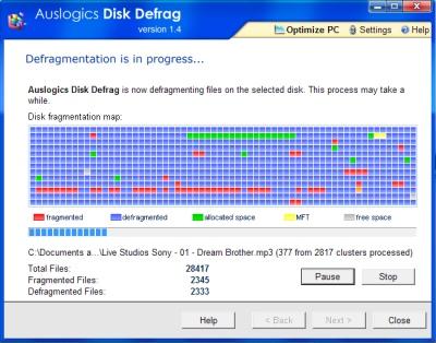 Desfragmenta y optimiza tu disco con Auslogics Disk Defrag