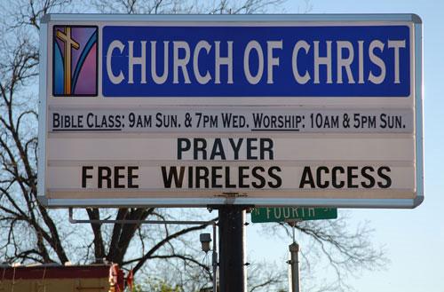 WiFi gratis en la iglesia
