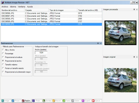 Redimensionar imágenes en masa con Multiple Image Resizer .NET