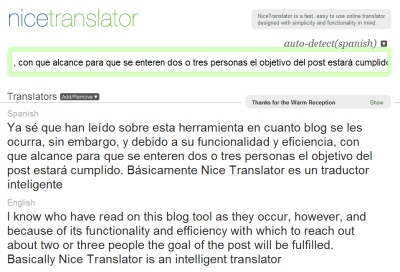 Nice Translator, rápido traductor inteligente