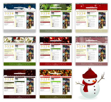 8 themes navideños para Netvibes