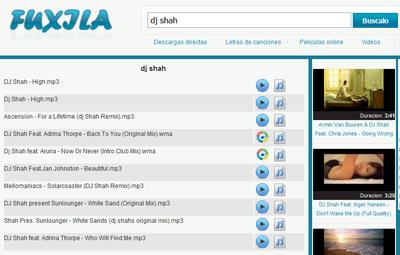 Fuxila, buscador de música, videos, películas y letras en descarga directa
