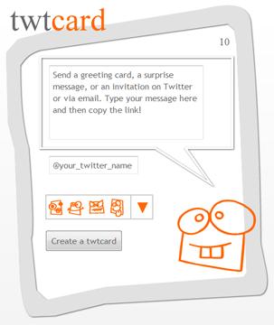Envía tarjetas de felicitaciones a través de Twitter