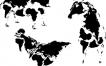 Mapas de la Tierra, en formas animales