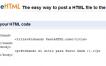 Paste HTML, aloja y testea tus archivos HTML