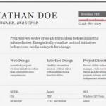 Plantilla en HTML para crear un resumen de tu CV