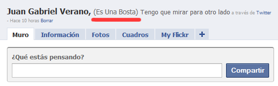Facebook y los nombres alternativos.