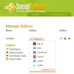 Social Follow, botón para que te sigan en las redes sociales