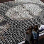 La Mona Lisa hecha con 3.604 tazas de café