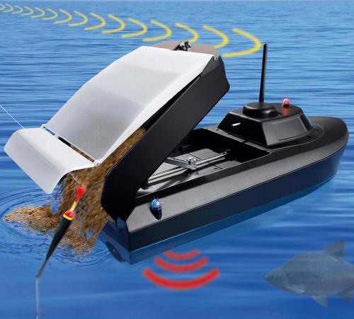 Barquito a radio control para echar carnada y pescar con estilo BarcoRC