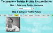 Twixenate, editor básico para tu avatar de Twitter