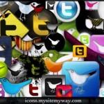 Paquete con variados iconos de Twitter